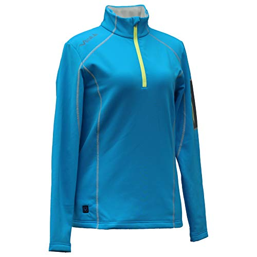 Womens Thermal Zip - VOLT Women's 5V Heated Thermal Half Zip Perfect for Warming Your Body's Core (Large, Blue)
