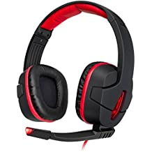 Sentey® Gaming Headset 7.1 USB DAC Soniq Boom Gs-4551 Pc Headset / Virtual 7.1 / Inline Volume Control / Microphone / Gold USB Universal for Any Pc or Laptop / 3 Meters Cable (Approximately 9.8 Feet) / Leather Padded Ear Pads with Passive Noise Canceling / Ergonomic Adaptive Leather Headband (Extreme Comfort) / Left and Right Drivers 40mm 120db / Lightweight 308g / Cable Management with Velcro Straps / USB Cap Connector - Computer Headset to Talk with Skype As Pc Headset, Work and Play! -Omnidirectional Microphone with LED Light Activity - Extremely Confortable / Gs-4550sp Standard Packaging Version