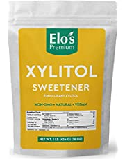 Elo's Premium Xylitol (1lb) | Packaged In Canada| 100% All-Natural Food Grade Sugar Alternative| Non-GMO, Kosher and Halal Friendly, Gluten Free, and Keto | Excellent All-Natural Sweetener & Sugar Substitute