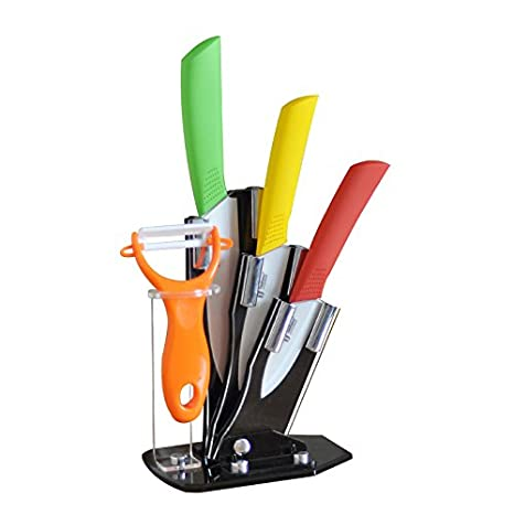 Amazon.com: Tim Home 4ps Cuchillos Multi Color de Ceramica ...