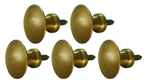 Bookcase Component - Antique Style Knobs for Cabinets and Barrister Sectional Bookcases 5 Pcs