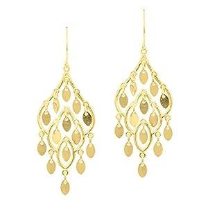 JewelStop 14k Yellow Gold Chandelier Earrings - 20 mm X 45 mm