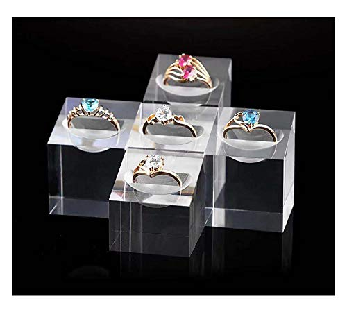 Svea Display Modern Design Clear Acrylic Display Stands Riser for Rings Premium Quality Handmade Trade Show Exhibition Jewelry Photography Props]()