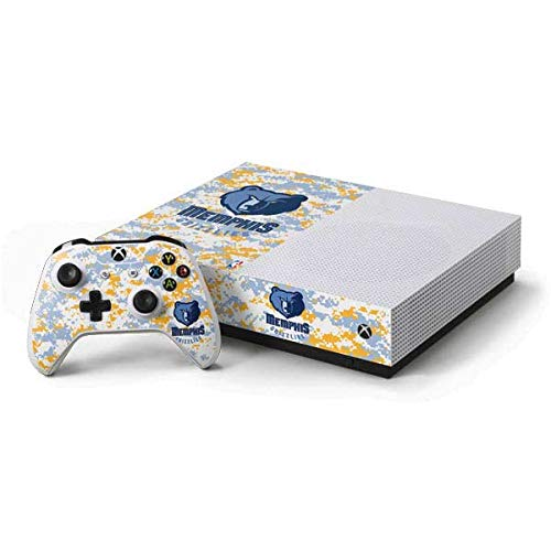 (Skinit Memphis Grizzlies Xbox One S All-Digital Edition Bundle Skin - Officially Licensed NBA Gaming Decal - Ultra Thin, Lightweight Vinyl Decal Protection)