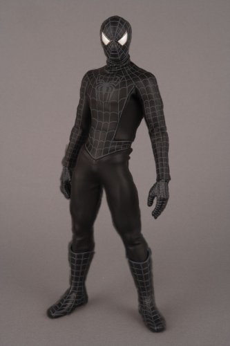 Spider-Man 3 Sideshow Medicom Real Action Hero Movie 12 Inch Figure Black Costume Spider-Man by Medicom Toy