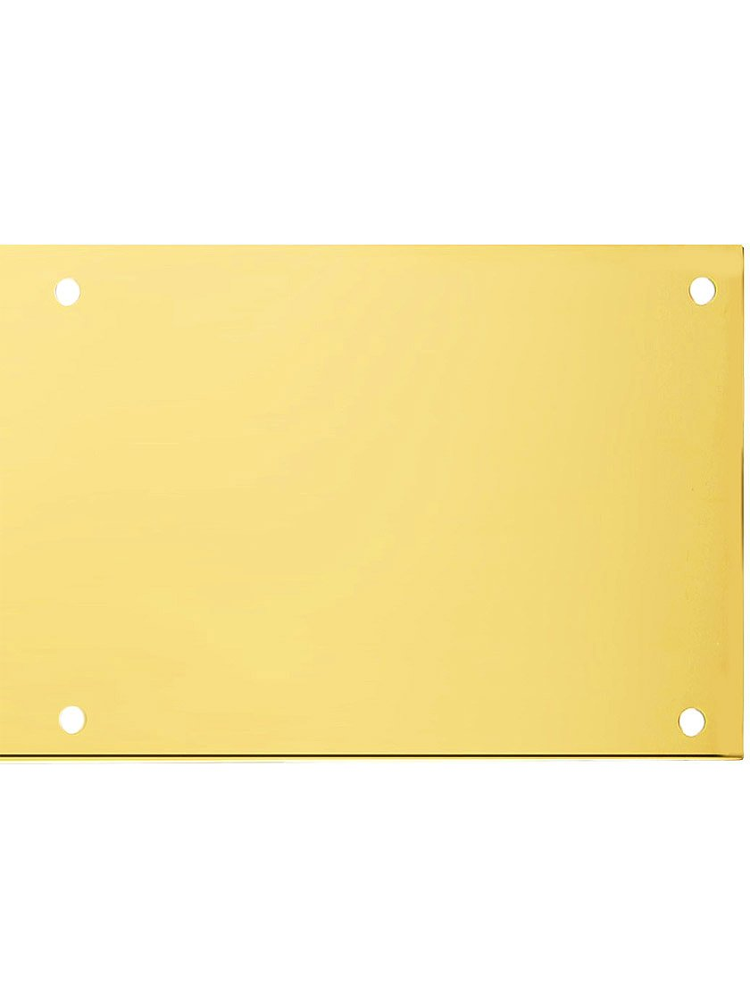 8'' X 34'' Magnetic Mount Polished Brass Kick Plate