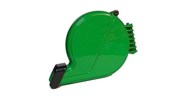Dispensador de tickets numerados eliminacode, en forma de caracol, color verde: Amazon.es: Oficina y papelería