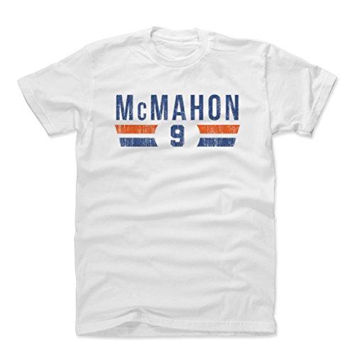 Jim Mcmahon Football - 500 LEVEL Jim McMahon Cotton Shirt Large White - Vintage Chicago Football Men's Apparel - Jim McMahon Font B