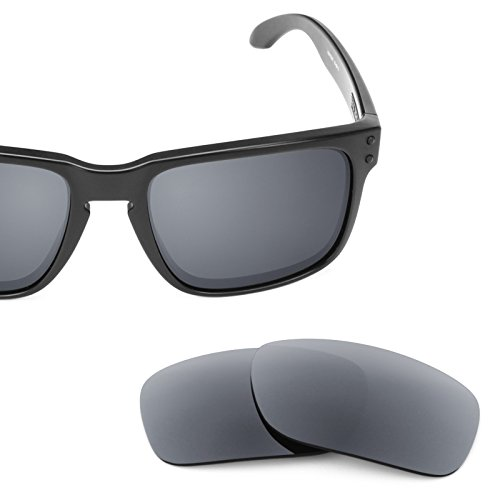 Grey Replacement Lenses - Revant Polarized Replacement Lenses for Oakley Holbrook Smoke Grey