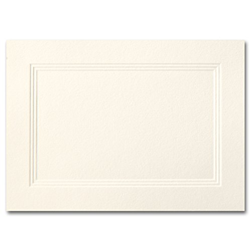 Fine Impressions A1 Fold-Over Triple Panel Cards, 3-1/2