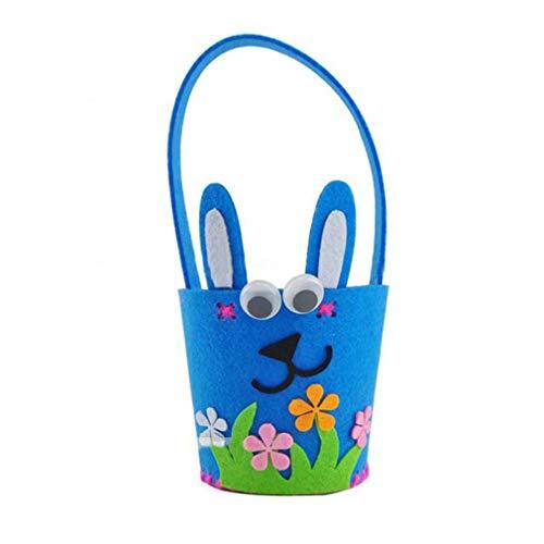 YCDC blue Easter Rabbit Basket, Handmade Felt DIY Craft, Easter Decoration, DIY Easter Eggs, Bunny Ornaments Easter Rabbit Basket Handmade Felt DIY Craft Easter Decoration DIY Easter Eggs