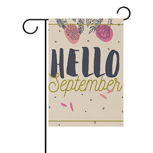 U LIFE Decorative Hello Welcome September Garden Yard Flag B