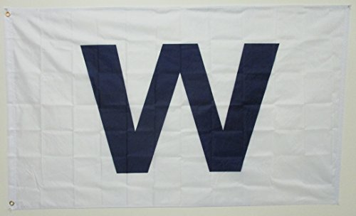 Chicago Cubs Win Wrigley Field 'W' 3x5 Polyester Flag Banner