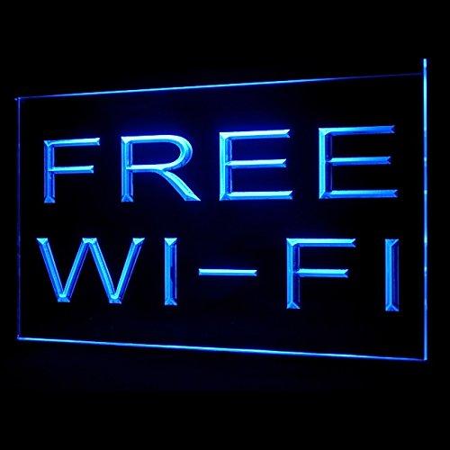 130038 Free Wi-Fi Internet Access Cafe Lounge Display LED Light Sign