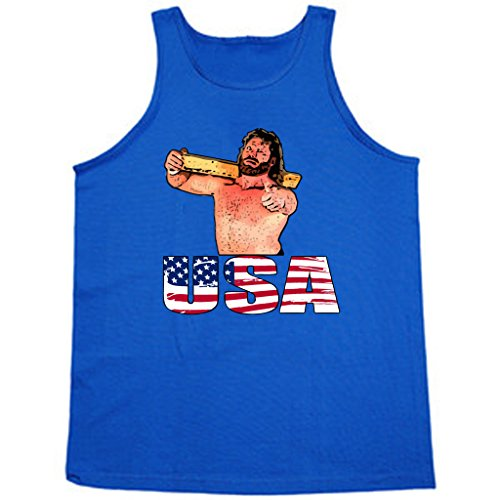 Hacksaw Jim Duggan ''USA'' TANK TOP ADULT 2XL by KING THREADS