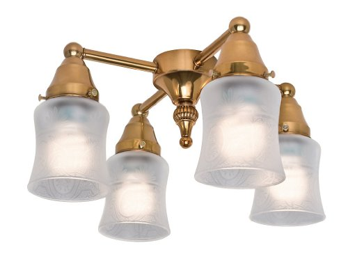 19th Century Four Light Branched Ceiling Fan Light Kit