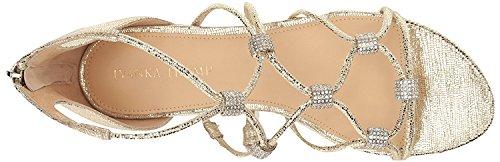 Ivanka Trump Women's Chaley2 Flat Sandal, Gold Gold Leather