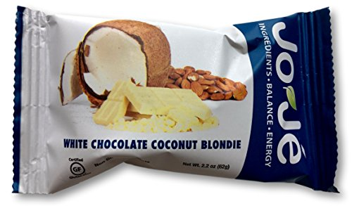 JoJe´ Bars - White Chocolate Coconut Blondie - 12 Bars, 1 Case - Gluten Free, GMO Free Energy Bar - All Natural, Organic (Balance Carb Well Chocolate)