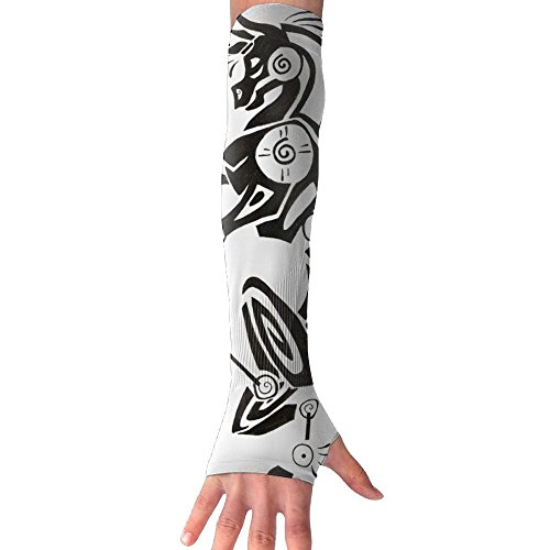cool pattern Compression Design Sun Protection Arms Cover For Boy Gardening Long (Boy Fairy Tale Graffiti)