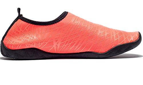Dotacoko Aqua Chaussures Hommes Femmes Enfants Léger Rapide Séchage Chaussures De Leau Sport Sneakers Pour La Plage Red2