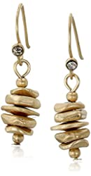 Kenneth Cole New York Gold Stacked Geometric Bead Drop Earrings