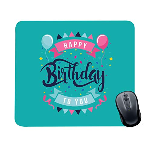 Family Shoping Birthday Gifts Office Printed Happy Birthday to You Mousepad for Computer, PC, Laptop,