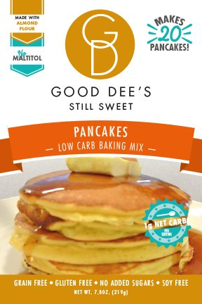 Good Dee's Pancake Mix- Gluten free, Grain Free, and made with Almond Flour
