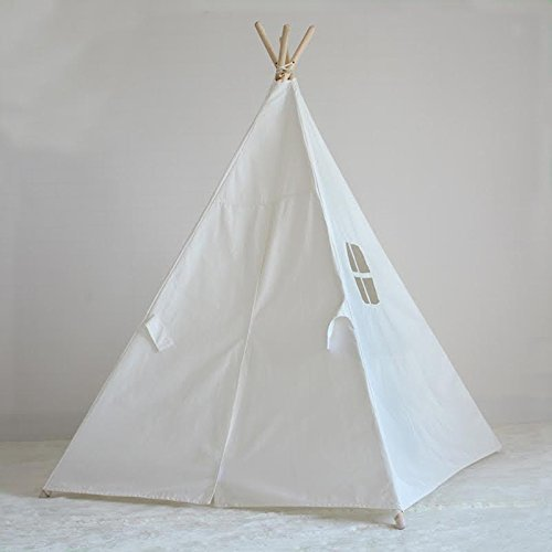 Price comparison product image Keyword World 6' Cotton Canvas Deluxe Teepee Playhouse Tent Classic For Kids