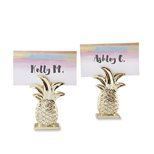 Holder Places (Kate Aspen Gold Pineapple Place Card Holder (Set of 6))