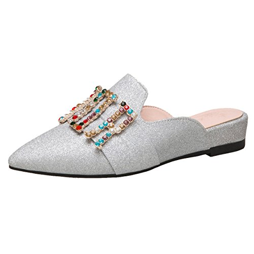 Mules Mules JYshoes Silber Silber Femme Femme Silber JYshoes JYshoes Silber JYshoes Femme Femme Mules Mules JYshoes apOqUAA