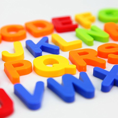 Magtimes Magnetic Letters and numbers for educating child in fun -Pioneering baby's brain and innovative-80 PCS in a box (Refrigerator Magnet Letters)