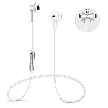 Auriculares Bluetooth V4.1 HD Estéreo Cascos Inalámbrico Magnéticos Deportivos con micrófono para iPhone x