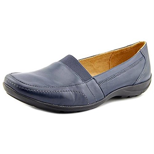 Naturalizer Fritz Mujer Square Toe Cuero Loafer Navy