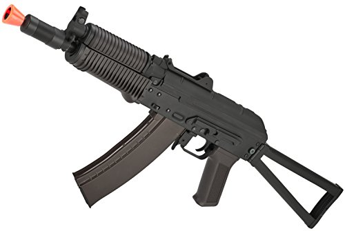 Evike - CYMA Stamped Metal AK74U w/Folding Stock Airsoft AEG Rifle - Polymer Furniture
