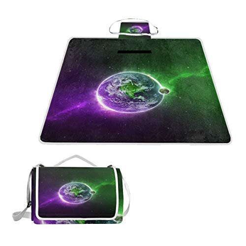 Outdoor Blanket Dual Layers for Outdoor Water-Resistant Handy Mat Tote Spring Summer Outer Space Stars Great for The Beach,Camping on Grass Waterproof Sandproof ()