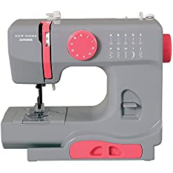 Janome Graceful Gray Basic, Easy-to-Use, 10-Stitch Portable, Compact Sewing Machine with Free Arm only 5 pounds