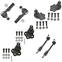 8 Piece Kit Tie Rod End Ball Joint Sway Bar Link LH RH...