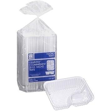 Desechables bandejas de plástico transparente Nacho – Martillo (567 G, 125-count,