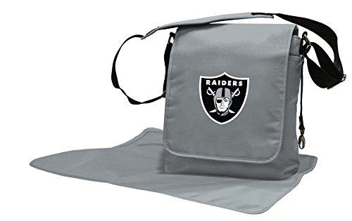 Wild Sports NFL Oakland Raiders Messenger Diaper Bag, 13.25 x 12.25 x 5.75-Inch, Black by Wild Sports