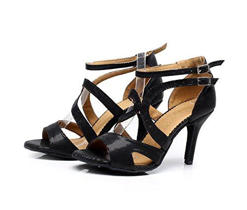 uk2 Latin C Hauts Salsa 5cm Jshoe talon7 5 De Modern Chacha Sandales Samba Eu32 Femme Our33 Satin Chaussures Cristaux Talons Tango Jazz Sparking A4anH