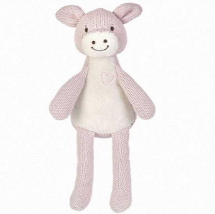 Happy Horse - Peluches et Doudous - Doudou cochon rose clair et blanc - 55 %