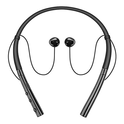 Wireless Headphones, Besiva Wireless Neckband Headset, IPX7 Sweatproof Sports Noise Cancelling Stereo Magnetic Earphones with Mic (10 Hrs Playtime,Call Vibrate Alert)