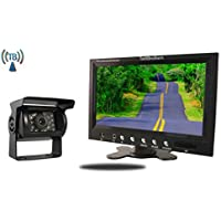 Tadibrothers 9 Inch Monitor with Wireless CCD Mounted RV Backup Camera
