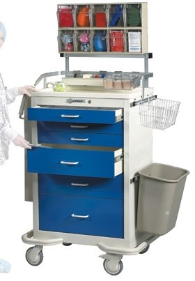Locking Medical Cart - AliMed Cart Accessories Spring Tension Drawer 2 Divider Set