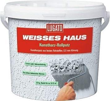Lugato Weisses Haus Kunstharz Rollputz Kornung 0 5 Mm 20 Kg