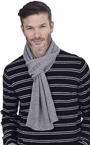 ecdda1fd44 Cashmeren Men's 100% Cashmere Solid Color Winter Wrap Scarf, Ultimate Soft  and Cozy 70