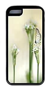 iPhone 5C Case Clear Butterfly Animal TPU Custom iPhone 5C Case Cover Black