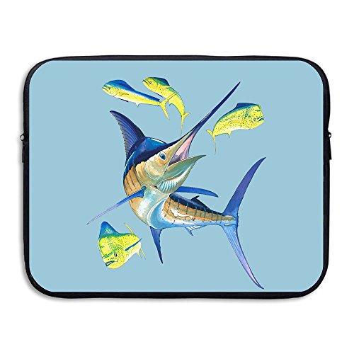 Waterproof Laptop Sleeve Pocket 15 Inch Macbook Air Pro Case Yellow Blue Marlin Laptop Sleeve Bag Cover For Women & Men All Computer Ultrabook -