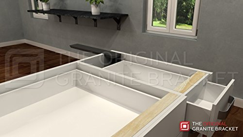 Countertop Support Bracket Side Wall 16'' Left Angle by Wholesale Hidden Granite Brackets (Image #3)
