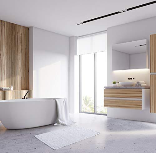 "AmazonBasics Everyday Cotton Bath Rug, 17"" x 24"", Set of 2, White"